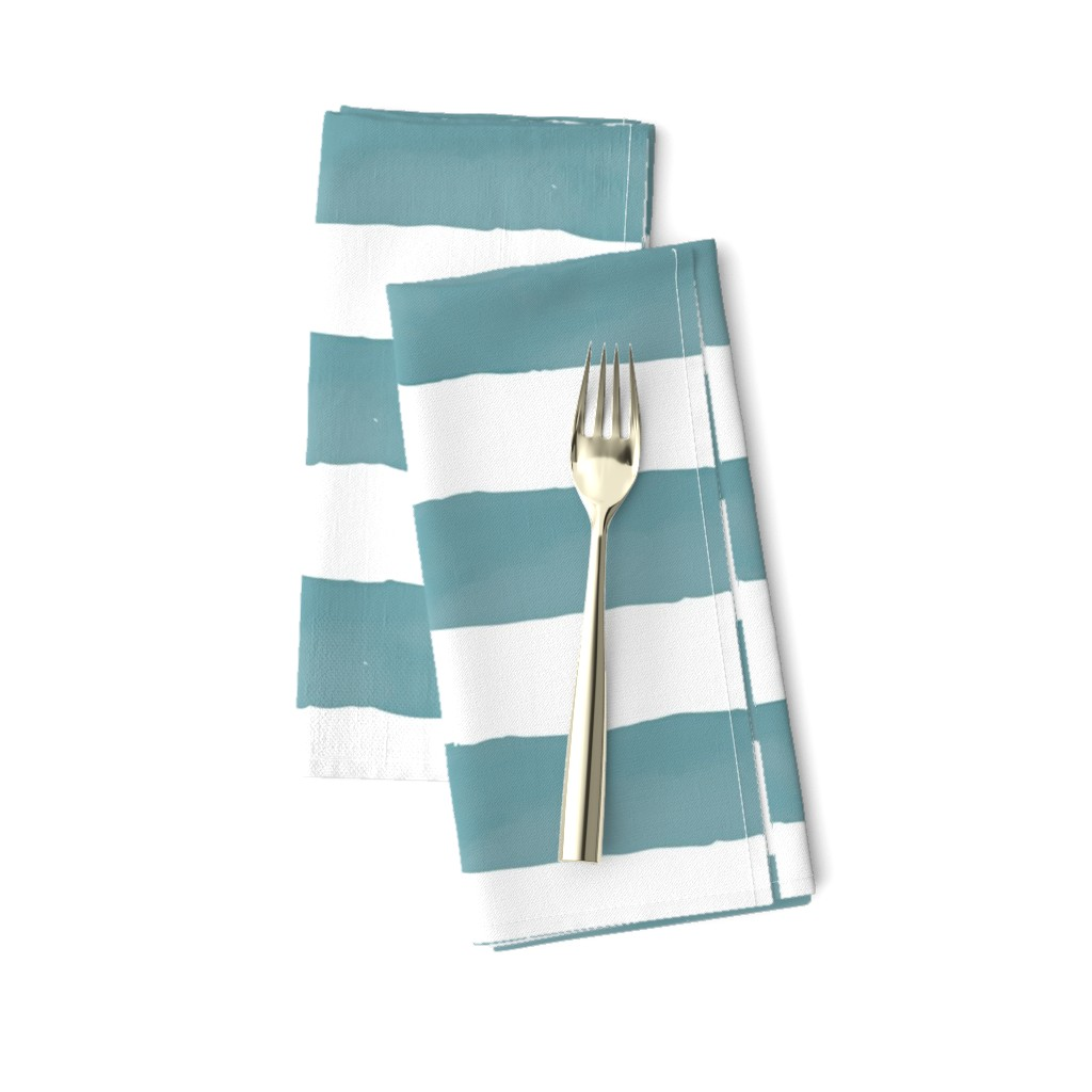 Amarela Dinner Napkins featuring Nautical Watercolor Stripes by taylor_bates_creative