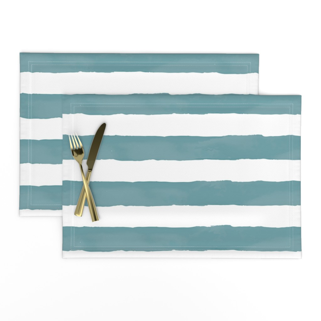 Lamona Cloth Placemats featuring Nautical Watercolor Stripes by taylor_bates_creative