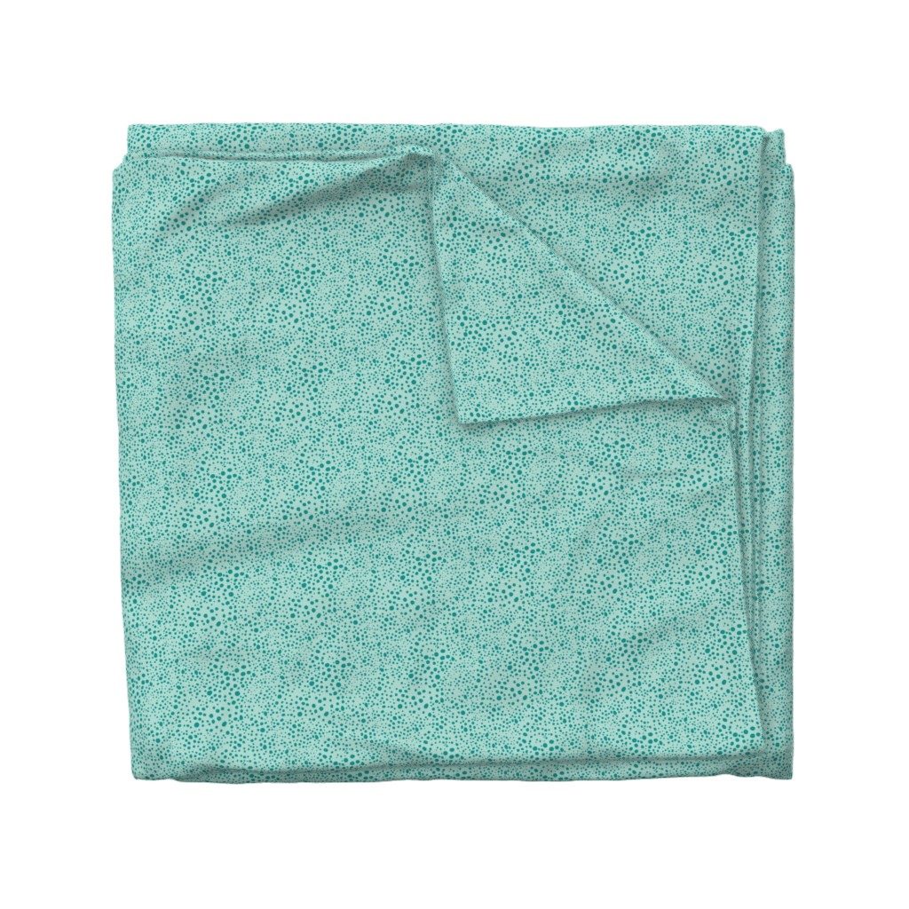 Wyandotte Duvet Cover featuring Pebbles - Mint with Teal by hettiejoan