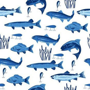 Fish Freshwater Blue White Small