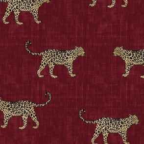 Leopard Texture -Dark Red