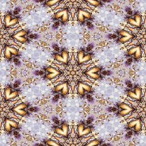 GOLDEN HEARTS JEWELS GEOMETRY MAUVE BY PSMGE