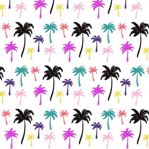 Palm Tree scribbles - Multi color