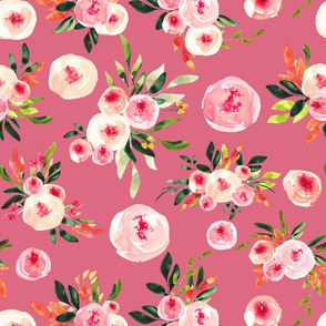 """Melody Floral on PINK 18"""""""