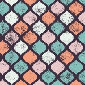 Vintage Grunge Moroccan Pattern