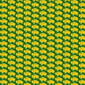 Bison Print - OFFICIAL Green & Gold (0.75 inch)