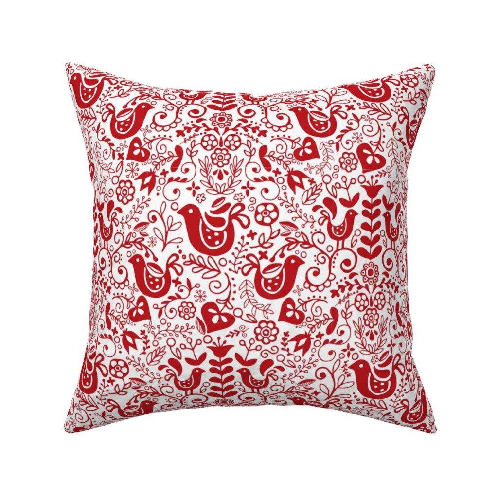 Catalan Throw Pillow featuring what the folk? ~red by lalaliz