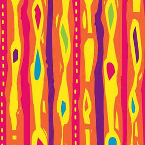 Funky Stripes- Hot colors