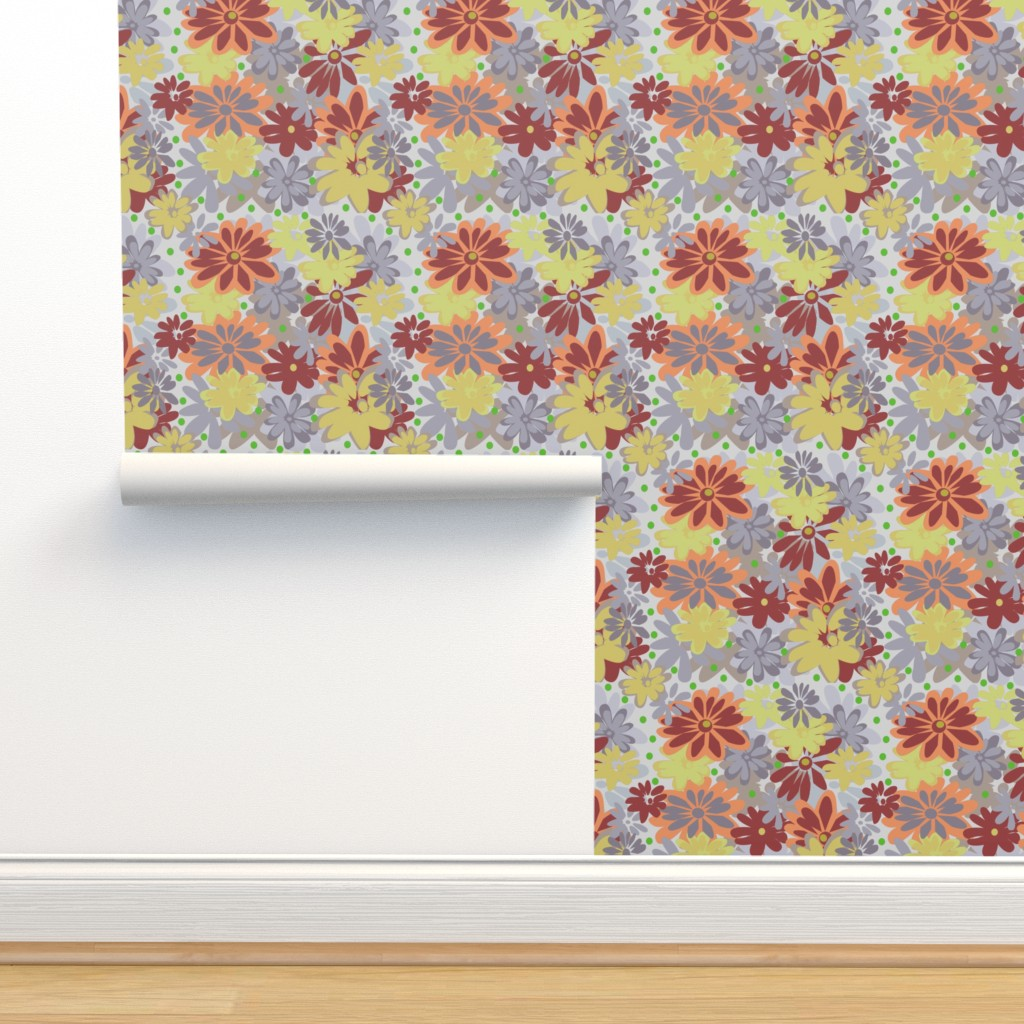 Isobar Durable Wallpaper featuring Mumtastic grey khaki by lorloves_design