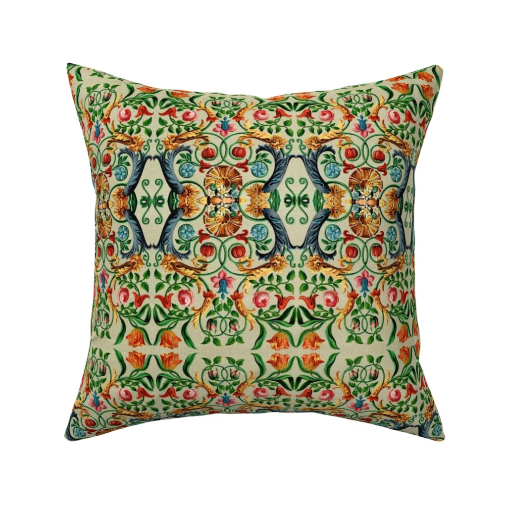 Catalan Throw Pillow featuring 17eme siecle 64 by hypersphere
