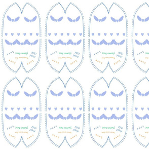 Angel Wing Blue Beanie for Preemies