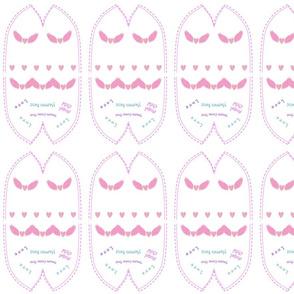 Angel Wing Pink Beanie for Preemies