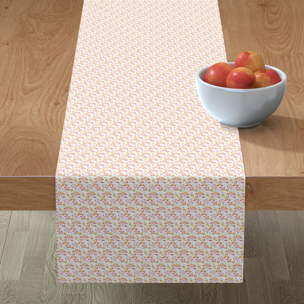 Minorca Table Runner featuring In Grandma's Quilt  Tiny floral by franbail