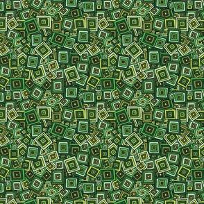 Organic Geometry - Green Squares