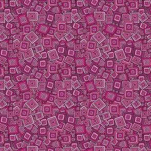 Organic Geometry - Pink Squares