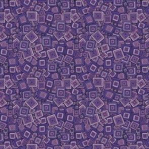 Organic Geometry - Purple Squares