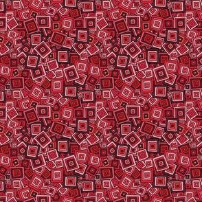Organic Geometry - Red Squares