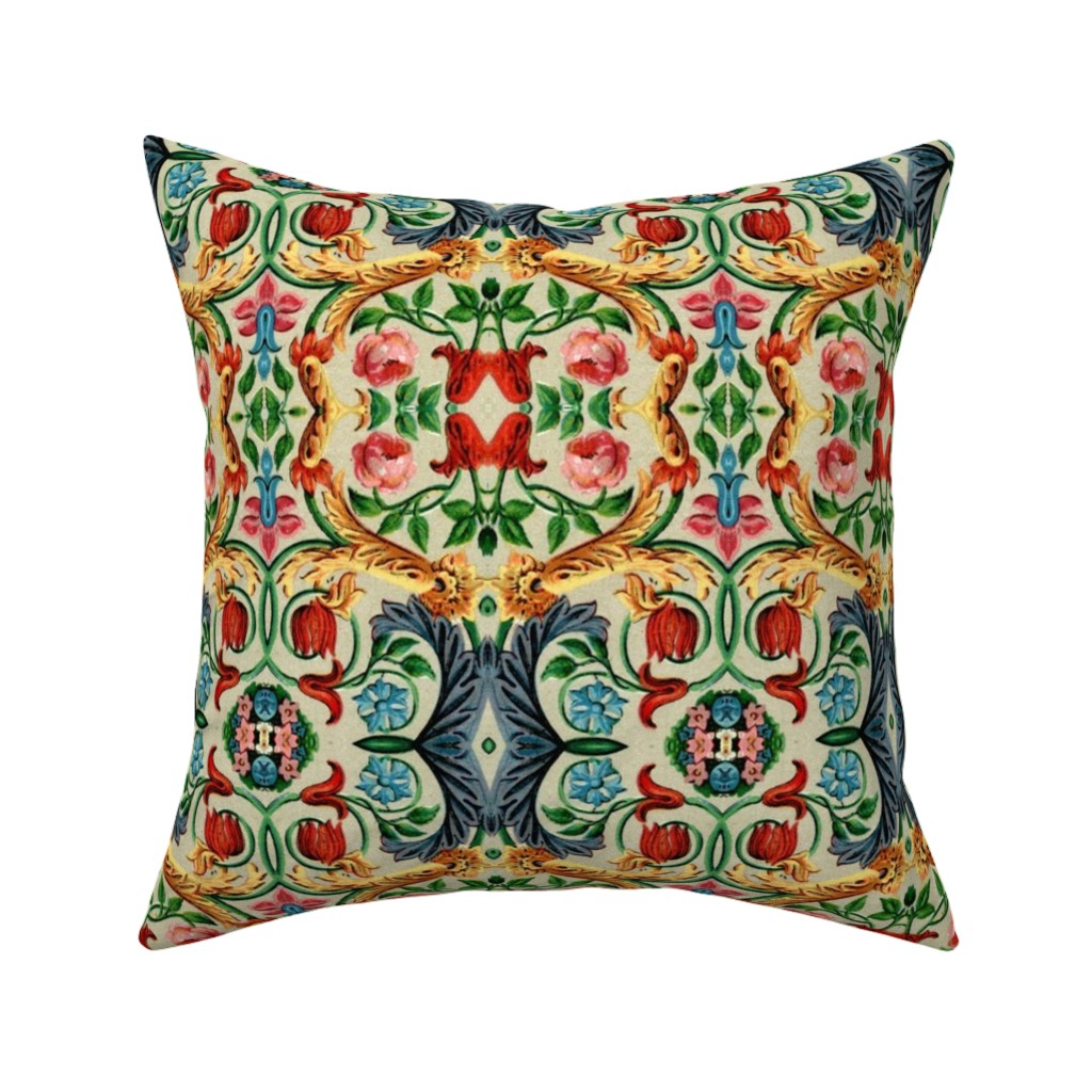 Catalan Throw Pillow featuring 17eme siecle 81 by hypersphere