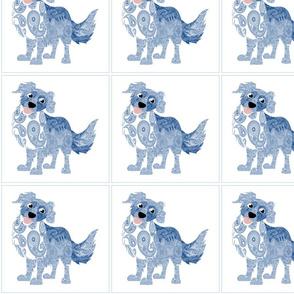 Dog Daze Paisley Blue