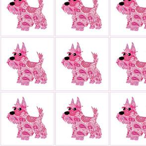 Dog Daze Paisley Pink