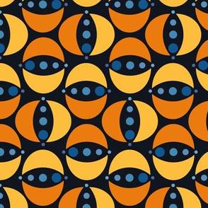 Many Moons Orange & Blue #2