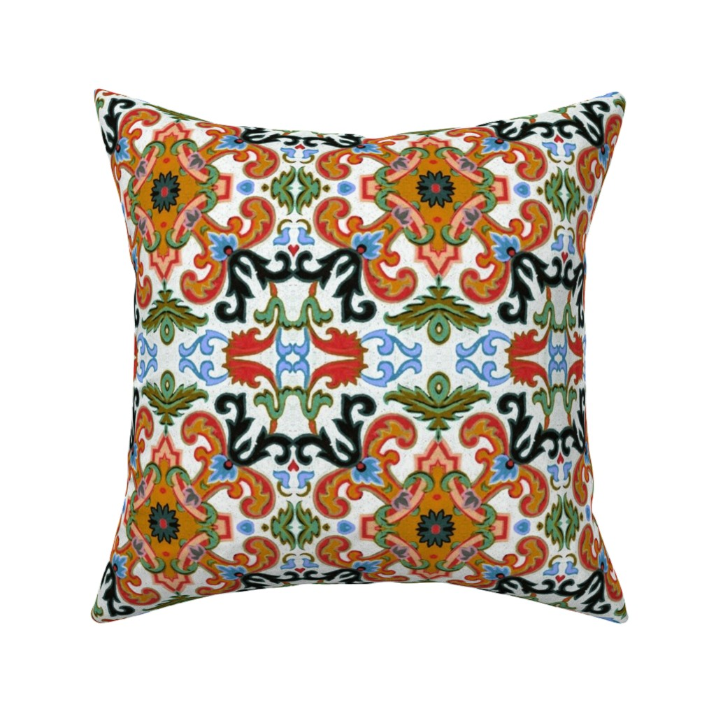 Catalan Throw Pillow featuring 17eme siecle 97 by hypersphere