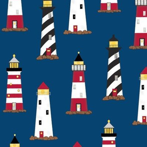 Lighthouse Navy Blue Directional