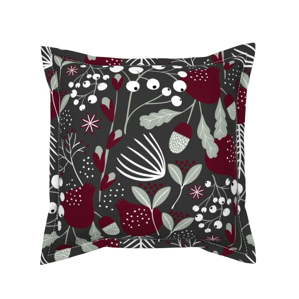 Serama Throw Pillow featuring Elegant Christmas by melarmstrong