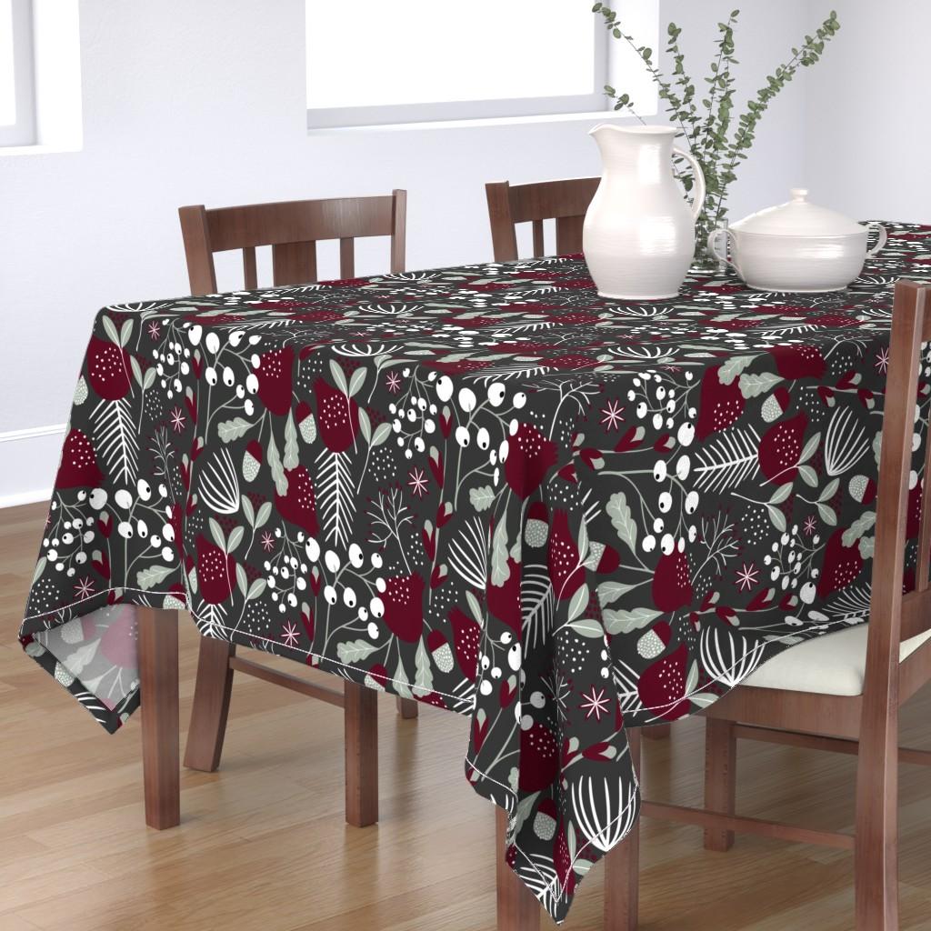 Bantam Rectangular Tablecloth featuring Elegant Christmas by melarmstrong