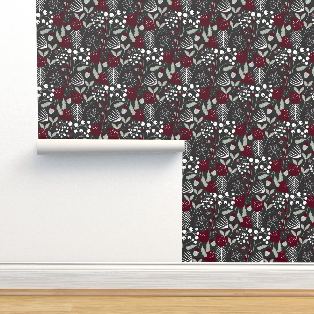 Isobar Durable Wallpaper featuring Elegant Christmas by melarmstrong