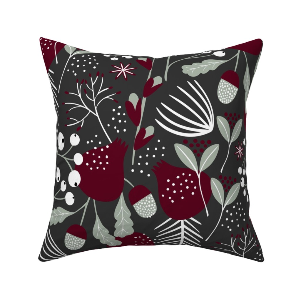 Catalan Throw Pillow featuring Elegant Christmas by melarmstrong