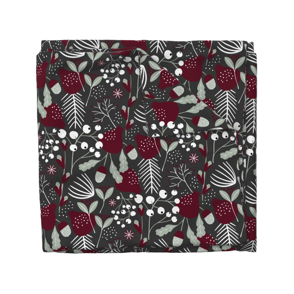 Wyandotte Duvet Cover featuring Elegant Christmas by melarmstrong