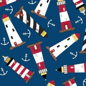 Lighthouse Navy Blue
