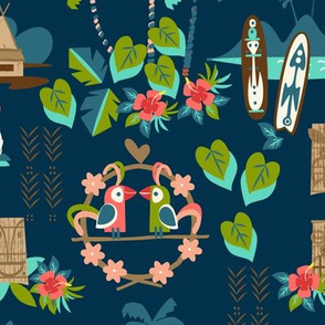 Mid Century Tiki Night Resort