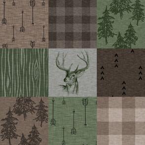 Rustic Buck - Camo - green, brown, tan
