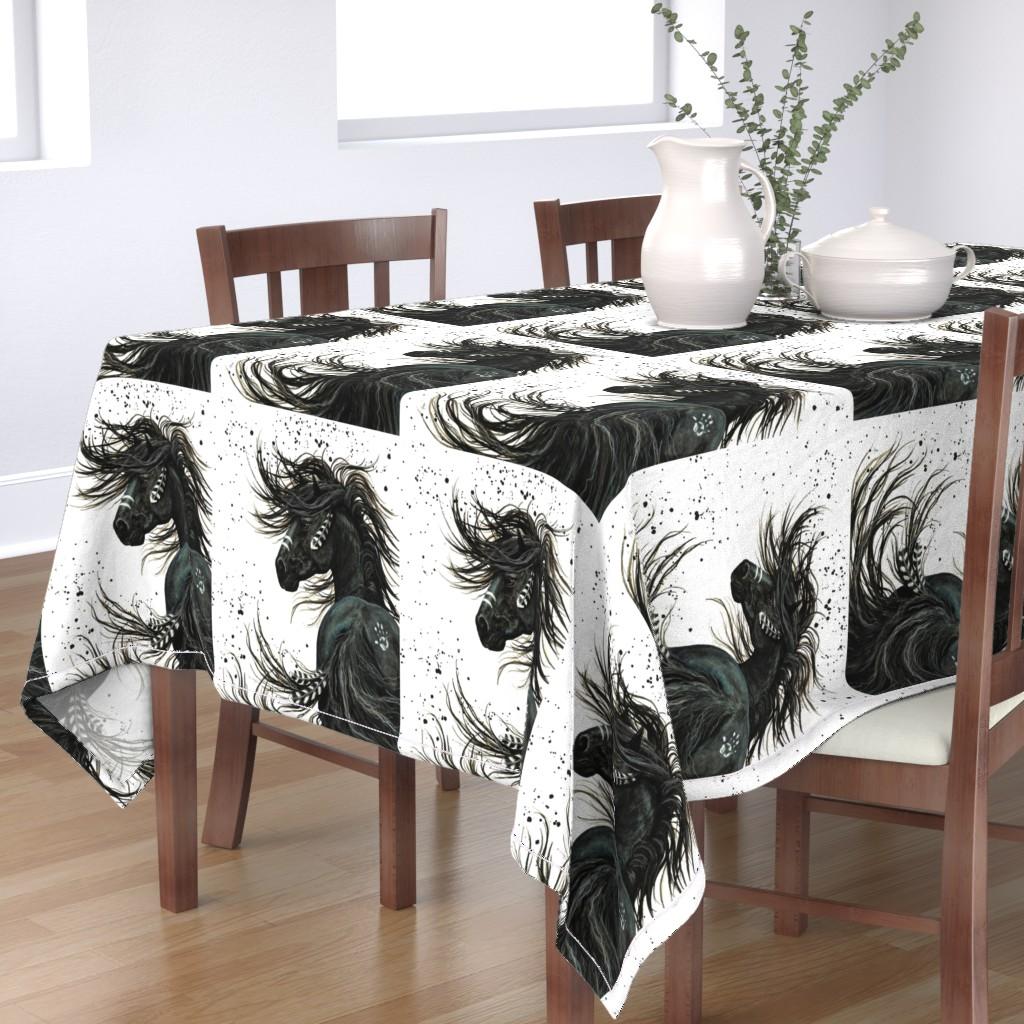 Bantam Rectangular Tablecloth featuring Majestic Spirt Horse by amylynbihrle