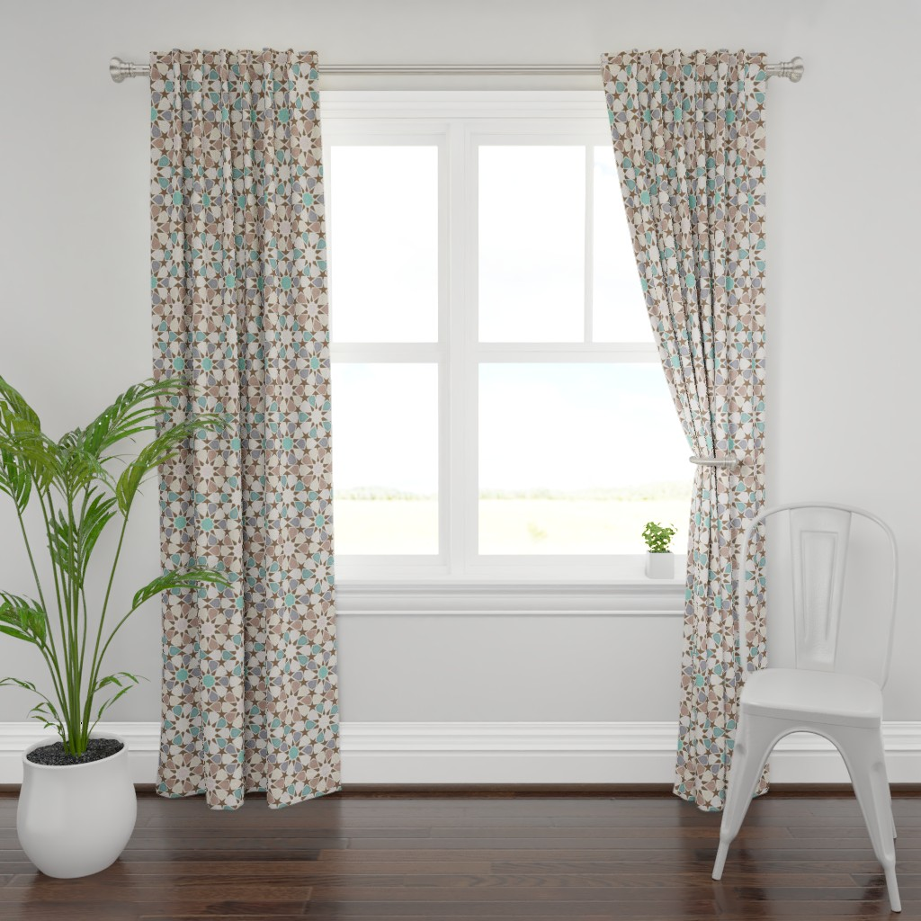 Plymouth Curtain Panel featuring Zillij - sunbleached by ormolu