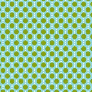 Roughing It Dots Blue Green