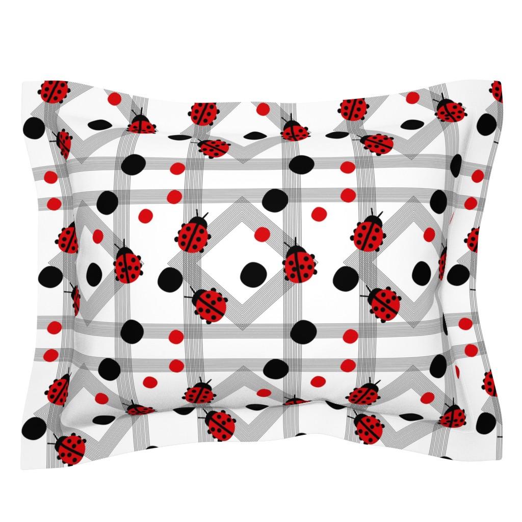 Sebright Pillow Sham featuring Ladybug Ladybug by franbail