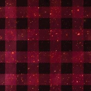 Red galaxy plaid