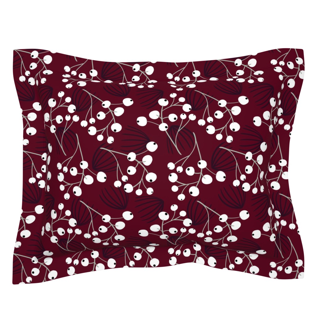 Sebright Pillow Sham featuring Elegant Christmas Berries by melarmstrong