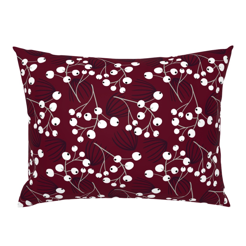 Campine Pillow Sham featuring Elegant Christmas Berries by melarmstrong