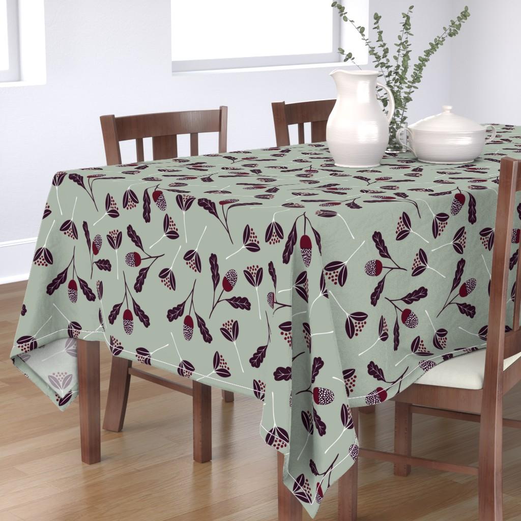 Bantam Rectangular Tablecloth featuring Elegant Christmas Florals by melarmstrong