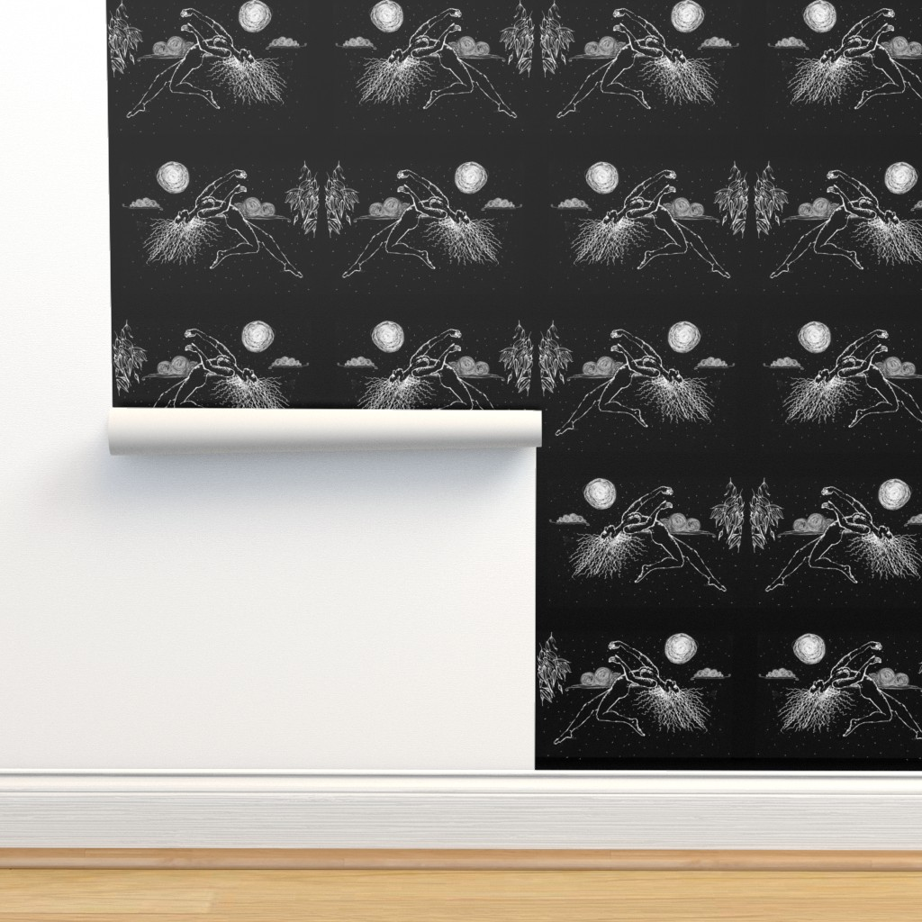 Isobar Durable Wallpaper featuring Floating by moonlight & Gum trees by cloudsong_art