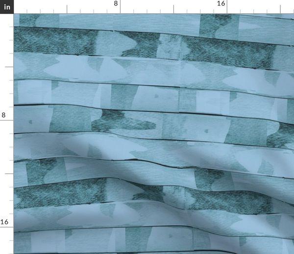 Stoff Meterware Streifen Quilt Petrol Künstlerisch Decke Daunendecke Bettdecke