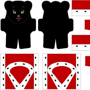 Royal Stuffed Black Bear & Outfit