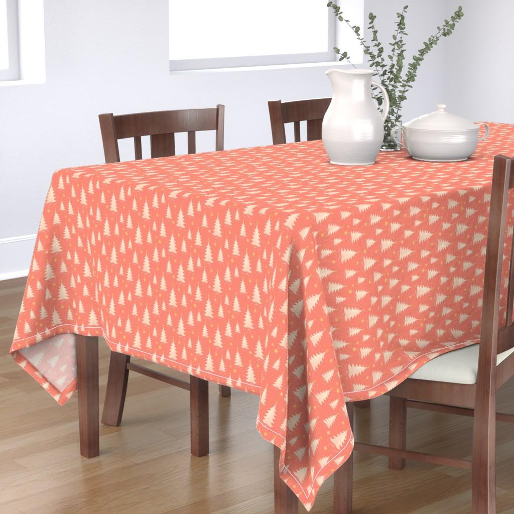 Bantam Rectangular Tablecloth featuring Christmas tree by monika_suska