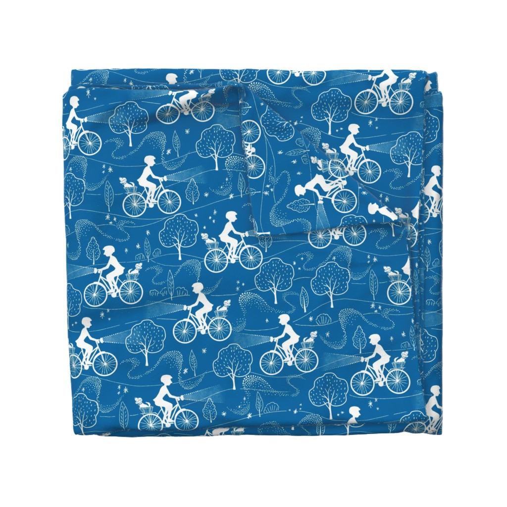 Wyandotte Duvet Cover featuring Night Ride by vinpauld