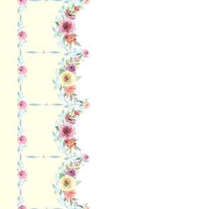 French County Floral - Yellow Border
