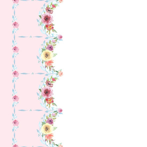 French Country Floral - Pink Border